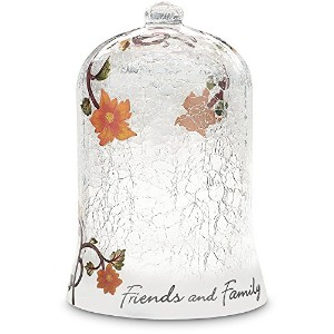 We Love by Pavilion 7-1/2-Inch Crackled Glass Dome, Friends and Family Sentiment [並行輸入品]