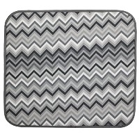 S&T 469300 Microfiber Dish Drying Mat, 16 by 18-Inch, Gray Chevron [並行輸入品]