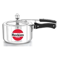 HAWKIN?Classic CL3T 3-Liter New Improved Aluminum Wide Mouth Pressure Cooker, Small, Silver [並行輸入品]