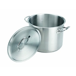 Crestware 20-Quart Stainless Steel Stock Pot with Pan Cover [並行輸入品]