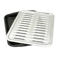 Porcelain Broiler Pan with Chrome Grill [並行輸入品]