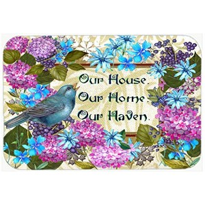 Caroline's Treasures PJC1102CMT Our House Our Home Our Haven Kitchen or Bath Mat, 20 by 30',...