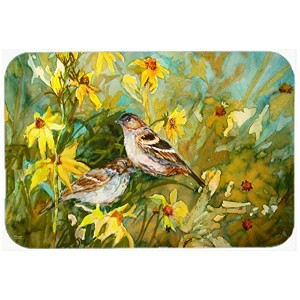 Caroline's Treasures PJC1111CMT Sparrows in the Field Kitchen or Bath Mat, 20 by 30', Multicolor ...