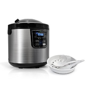 NutriChef 10-In-1 Rice Multi Cooker Rice Soup Bean Cooker - 10 Automatic Functions - 6 Qarts - 24Hr...