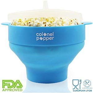 Healthy No Oil Popcorn Maker - Pops 14 cups in 3 minutes, Quiet Microwave Popcorn Popper, Movie...