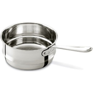 All-Clad 4703-ST Stainless Steel Dishwasher Safe Universal Steamer Insert Cookware, 3-Quart, Silver...
