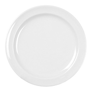 Excellant? Milan Melamine White Collection 10-1/4-Inch Round Dinner Plate, White, 12-Piece [並行輸入品]