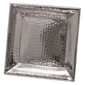Artisan 11.25 inch Square Stainless Steel Hammered Serving Tray [並行輸入品]