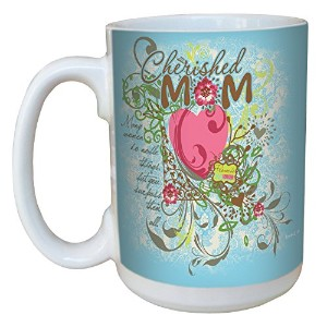 Tree-Free Greetings lm44219 Cherished Mom: Proverbs 31:29 Ceramic Mug with Full-Sized Handle, 15...