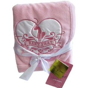 Baby Phat Plush Blanket, Pink by Baby Phat
