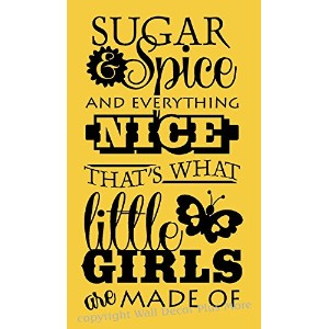 Wall Decor Plus More WDPM2731 Sugar and Spice And Everything Nice That's What Little Girls Are Made...