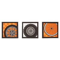 One Grace Place Teyo's Tires Canvas Art, Black, White, Grey, Orange by One Grace Place [並行輸入品]