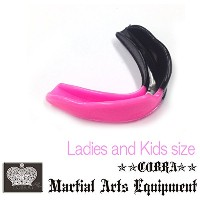 COBRA 薄型マウスピース LADIES AND JUNIOR MOUTH GUARD BLACK/PINK