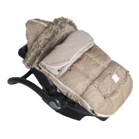 7AM Enfant Le Sac Igloo Footmuff, Converts into a Single Panel Stroller and Car Seat Cover, Beige,...
