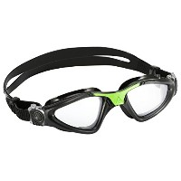 Aqua Sphere Kayenne Swim Goggle - Clear Lens - Green Great for Swimming