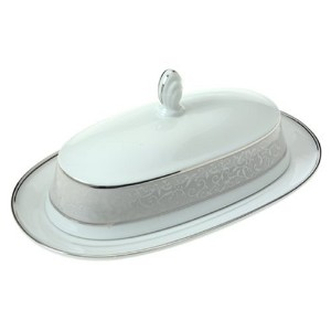 Mikasa Parchment Covered Butter Dish by Mikasa
