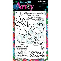 """Dare 2B Artzy Clear Stamps 4""""X6"""" Sheet-Give Thanks (並行輸入品)"""