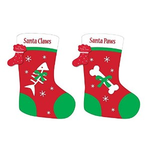 CUTE SANTA PAWS FOR DOGS OR SANTA CLAWS FOR CATS CHRISTMAS STOCKING by Frosty Paws