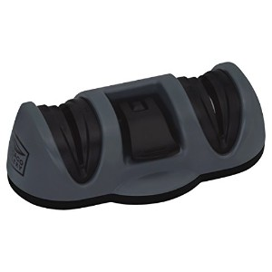 Chicago Cutlery Dual Sharpener with Fine and Coarse Suction Bottom, Black by Chicago Cutlery