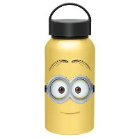 Zak! Designs Aluminum Water bottle with Carrying Loop and Jerry from Minions Movie, BPA-free, 13 oz...