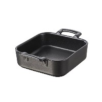 Revol USA Belle Cuisine Deep Square Baking Dish, 7.75 by 7.76-Inch, Black [並行輸入品]