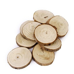 OULII Wood Log Slices Discs for DIY Crafts Wedding Centerpiecesテッツシツ6-8CM by OULII