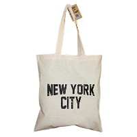 NYC Tote Bag Distressed New York City 100% Cotton Canvas Screenprinted by NYC FACTORY