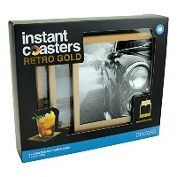 Retro Gold Instant Cup Coasters