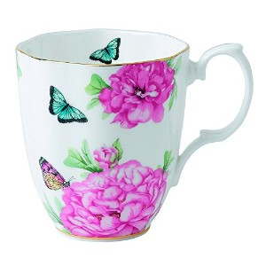 Royal Albert Friendship Vintage Mug Designed by Miranda Kerr, 13.5-Ounce, White