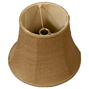 "Royal Designs Modified Bell Lamp Shade, Burlap 7.5 x 12 x 9.5, UNO Floor Lamp by ""Royal Designs,..."