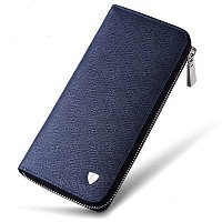 (ウィリアムポロ 長財布) William POLO Men s Genuine Leather Long Purse Mens Zipper Wallet Money Clip
