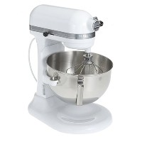 KitchenAid KV25GOXWH Professional 5 Plus 5-Quart Stand Mixer, White by KitchenAid
