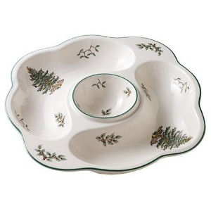 Spode Christmas Tree 10-Inch Porcelain Crudite by Royal Worcester