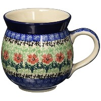 Polish Pottery Mug - 11 oz. Bubble - Maraschino by Polish Pottery Gallery