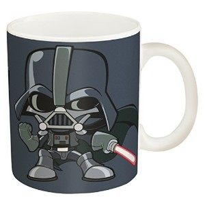 Zak! Designs Ceramic Coffee Mug with Illustrated Darth Vader Graphics, 11.5 oz. by Zak Designs