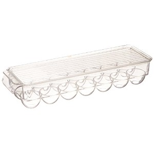 Greenco Stackable Refrigerator Egg Storage Bin With Lid, Stores 14 Eggs, Clear by Greenco