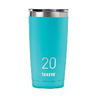 Takeya ThermoTumbler Insulated Stainless Steel Tumbler with Sip Lid, Ocean, 20 Ounce by Takeya