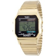 Timex タイメックス メンズ 腕時計 Digital Quartz Watch with LCD Display and Gold Stainless Steel Bracelet T78677PF