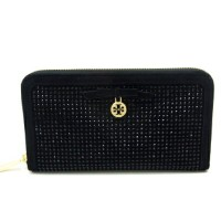 TORY BURCH トリーバーチ 『ラウンドファスナー長財布 (ALL-OVER CRYSTAL ZIP CONTINENTAL WALLET)』 《BLACK/ブラック・黒×...