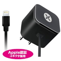 JTT 日本トラストテクノロジー dexim Mini AC Charger with Lightning connector DCA324E-B ブラック