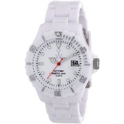 ToyWatch トイウォッチ 男女兼用腕時計 Fluo Time Only Watch FL01WH All White Unisex Plasteramic Plastic Ceramic Date Display Rotating Bezel