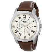 Fossil フォッシル メンズ腕時計 FS4735 Grant Brown Leather Watch