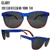 GLASSY SUNHATERS/グラッシーサンヘイターズ サングラス DERIC CLEAR BLUE/CLEAR RED_02P01Oct16
