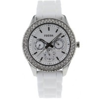 Fossil フォッシル レディース腕時計 Women's ES3001 Stainless Steel Analog White Dial Watch