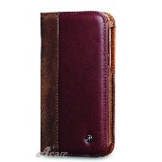 Acase HTC One M8 レザーケース Real Leather case 本革 レザー ケース for HTC One 2 ( M8 ) ブラウン ( ブック タイプ 手帳...