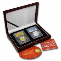 干支ヘビ金貨&銀貨 1 oz Gold & Silver High Relief Proof Snake Set PCGS PR-70