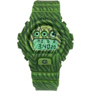 腕時計 カシオ Casio G-Shock Classic Green Zebra Striped Mens Watch DW6900ZB-3CR【並行輸入品】