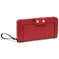 (マークバイマークジェイコブス) MARC BY MARC JACOBS 財布 M0002922 81811 LADY MOTO SLIM ZIP AROUND 長財布 WASHED RED[並行輸入品]