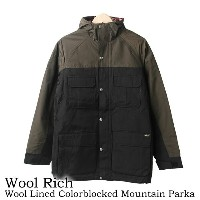Woolrich【ウールリッチ】16168 Wool Lined Color Blocked Mountain Parka ウールラインド カラーブロック マウンテンパーカー
