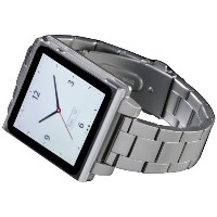 HEX HX1026-SLVR Vision Metal Watch Band iPod Nano用 腕時計メタルベルト 6G (Silver)